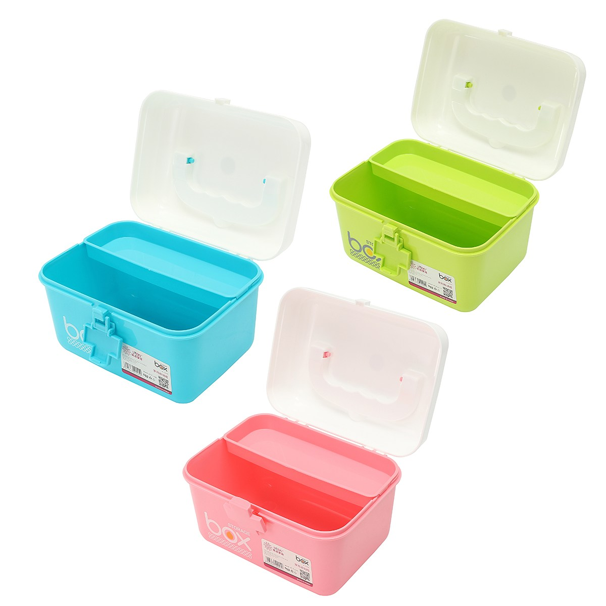 NEW Safurance Plastic 2 Layers Health Pill Medicine Drug Bottle First Aid Kit Case Storage Box Emergency Kits 4 section medicine pill storage box case green