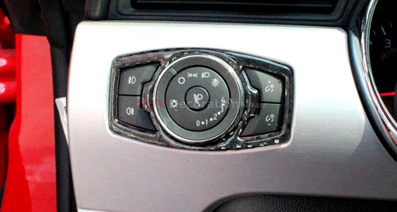 For Ford Explorer 2013 2014 2015 2016 2017 / Focus 2012 2013 2014 2015 2016 True Carbon Head Light Switch Control Trim 1pcs саваж каталог осень зима 2013 2014