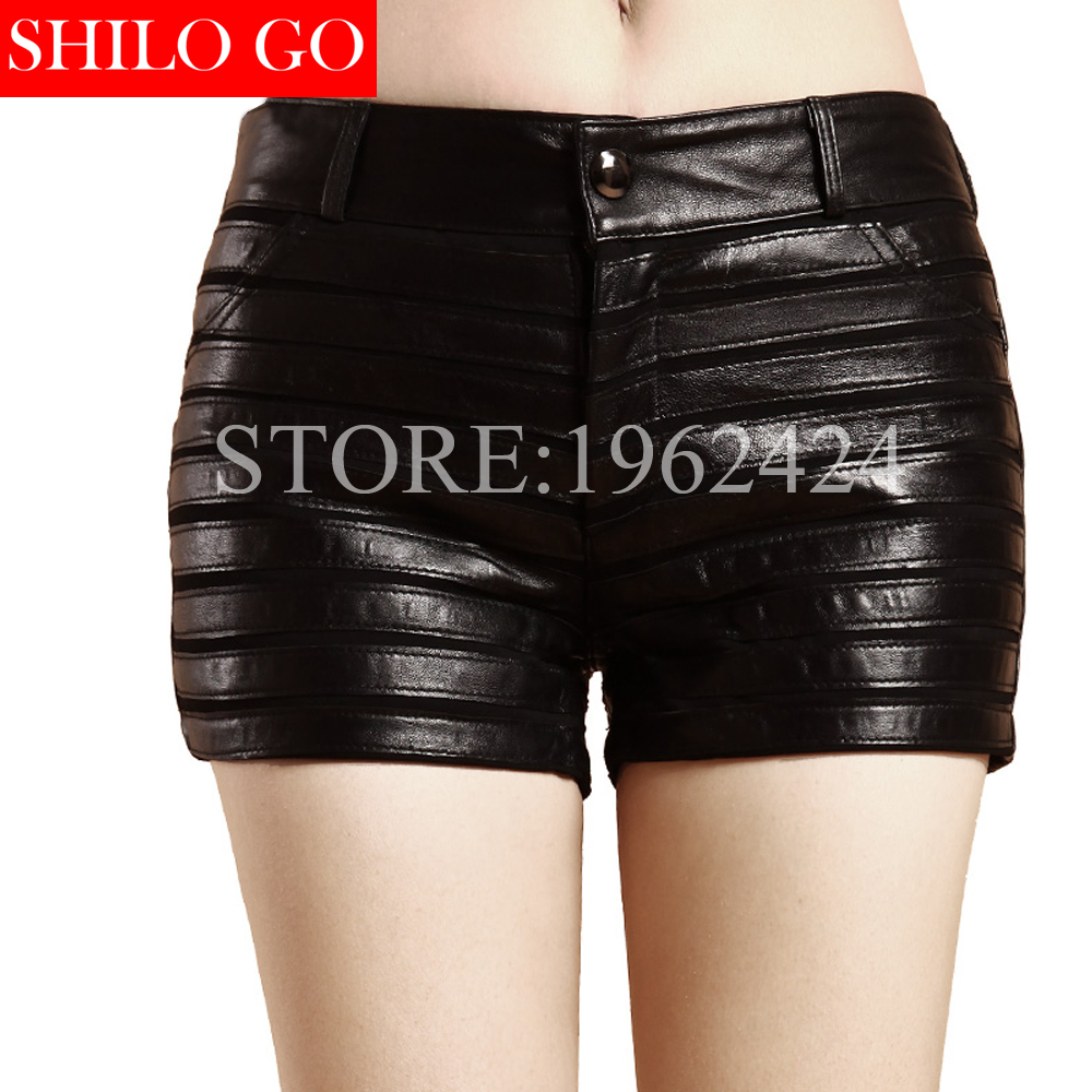 Autumn winter fashion fashion women high quality real natural Sheepskin sexy stripes large size stitching short