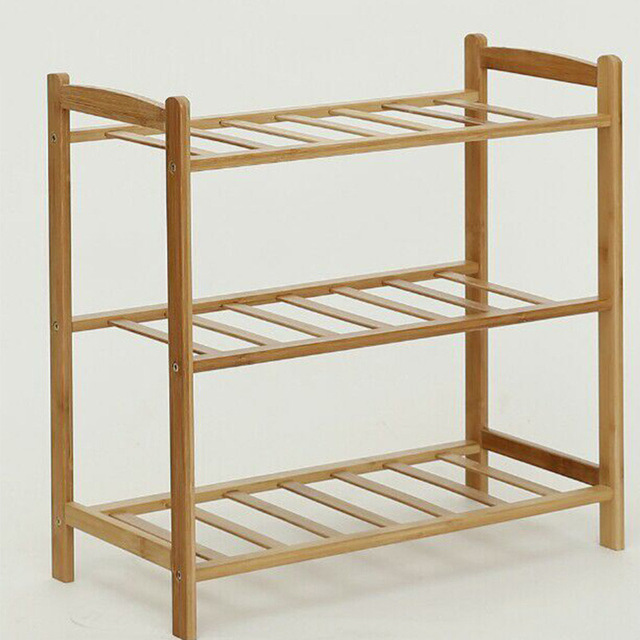 Good Quality Bamboo Shoes Rack Large Capacity Shoe Cabinet Organizer Stand  Multilayer Simple DIY Shoes Storage