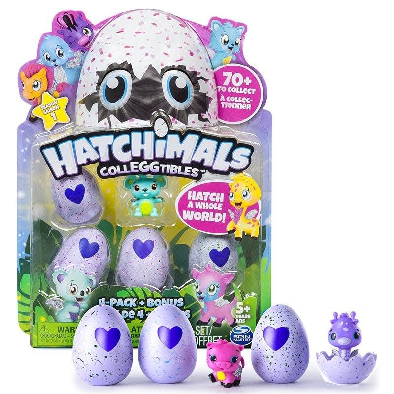 Hatchimals Colleggtibles 4 Pacco Bonus Stagione 1 Uovo Da Cova Bambola per I Regali per Bambini