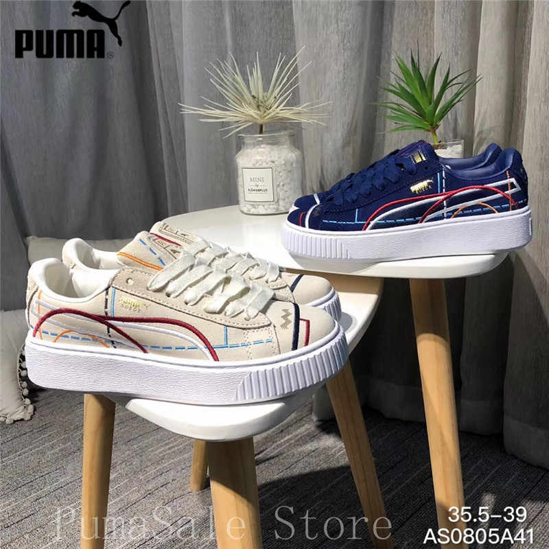 3f23e781b399 Detail Feedback Questions about Original PUMA Suede Platform Women Shoes  Lace up Closure Women Sneakers Embroidery Thick Bottom Wn s Badminton Shoes  EUR35.5 ...