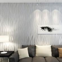 Современные полосы геометрический 3D обоев для спальня гостиная домашний декор рельеф серый в полоску обои телевизор диван задний план