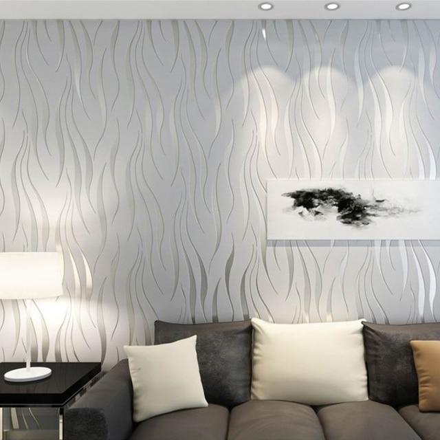 Moderna Stripes Geometrica 3D Rotolo di Carta Da Parati Per La Camera Letto  Soggiorno Complementi Arredo Casa Sollievo Grigio Striscia TV Divano ...