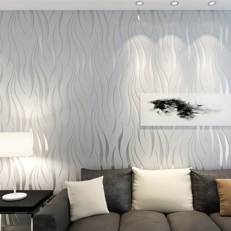 Moderne Streifen Geometrische 3D Tapete Rolle Für Schlafzimmer ...