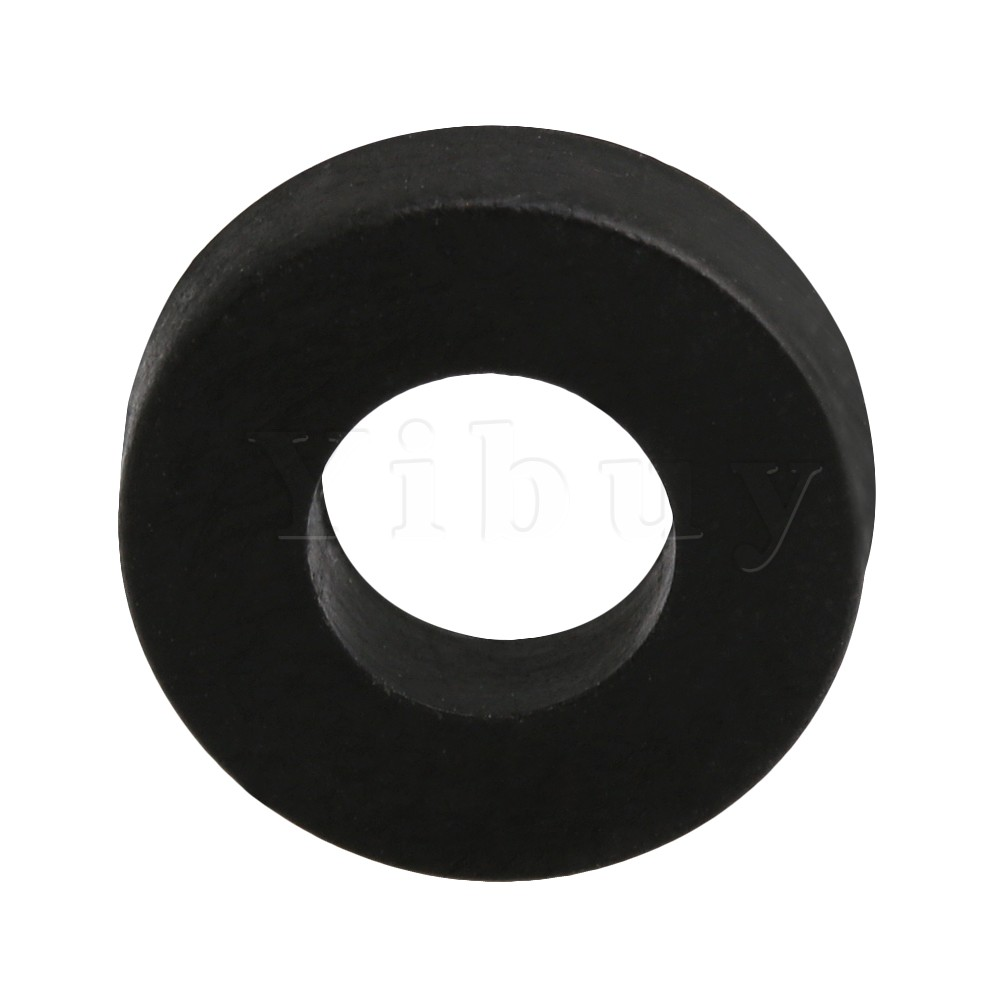 Yibuy 1.2x0.3cm Round Flat Washers Black Nylon Plastic for Drum Tension Rod Drum Screws Pack of 10