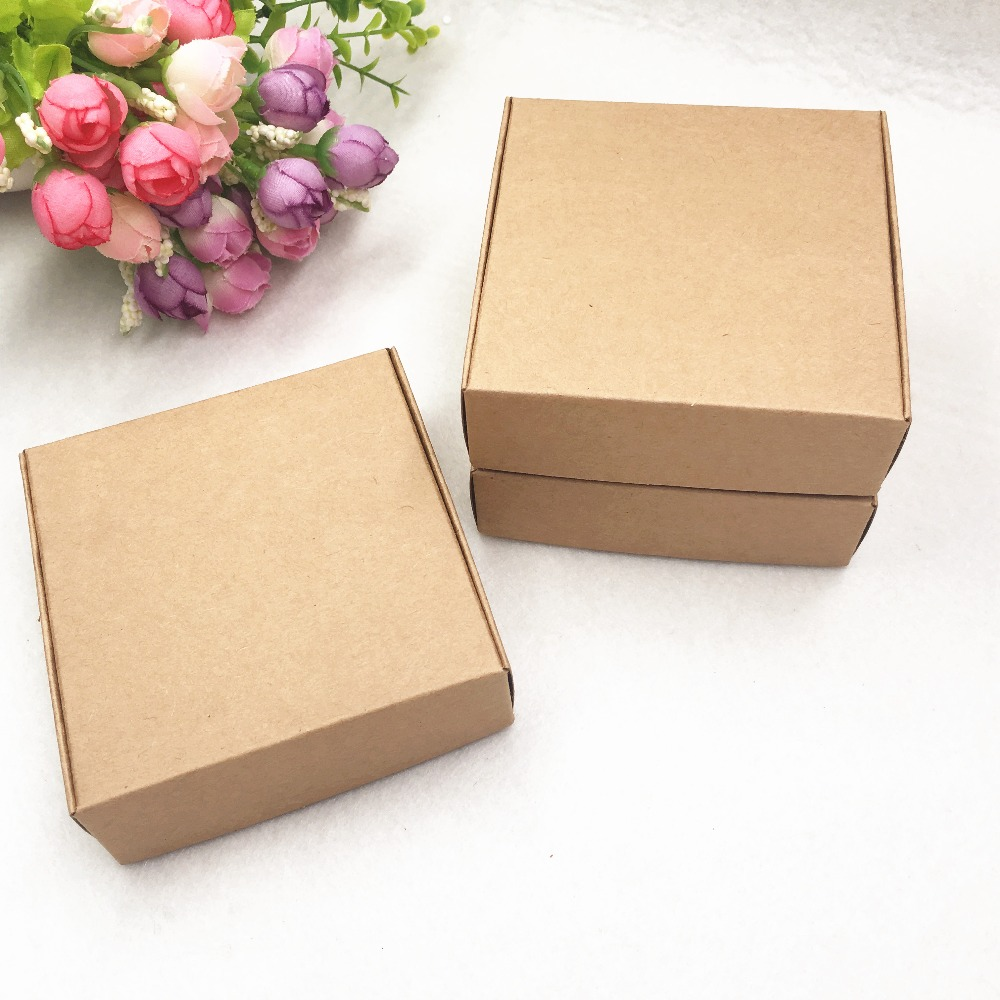 30 Pcs Kraft Paper Gift Packaging Box Custom Carton Cardboard Box Handmade Soap Jewelry Candy Packages Paper Box