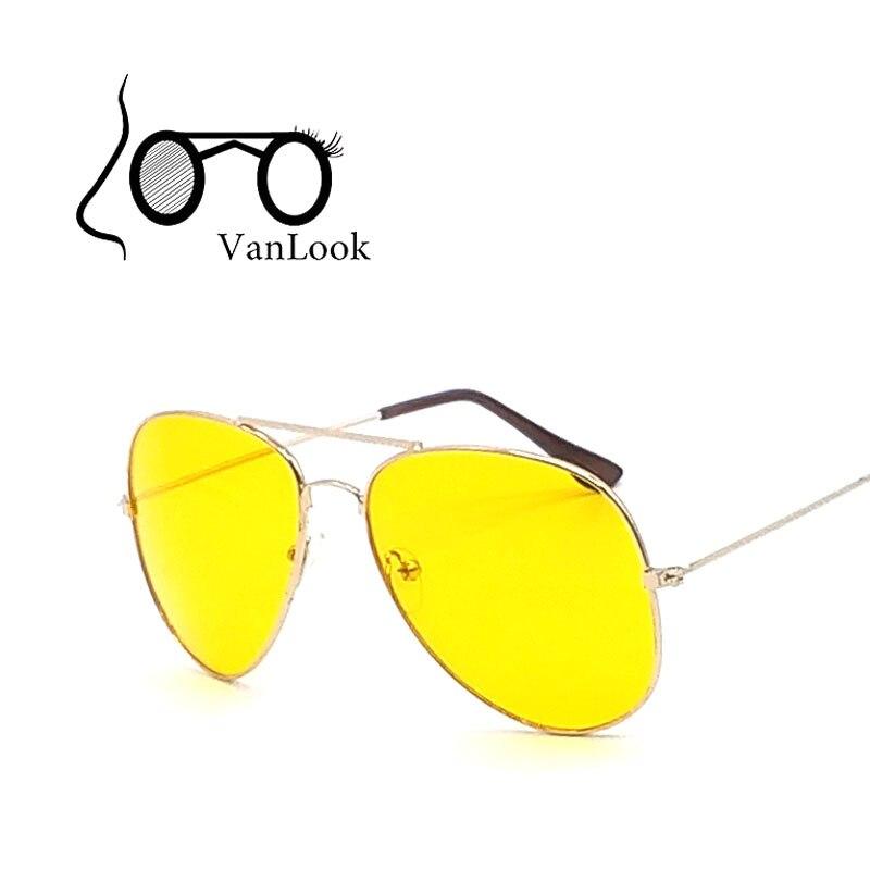 Нощни шофьорски слънчеви очила за жени Слънчеви очила мъже Oculos de Sol Feminino Марка дизайнер Модни жълти лещи