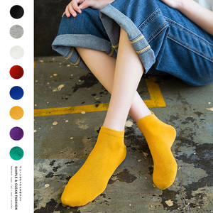 Image 2 - Size 35 42 Kawaii Women Socks Happy Fashion Ankle Funny Socks Women Cotton Embroidered Expression Candy Color 1 Pair