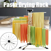Collapsible Pasta Drying Rack Tools Spaghetti Noodle Stand Holder Kitchen Accessories Pasta Supplies ABS Stainless Steel