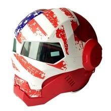 (1 шт.) Новые 100% Первоначально США Флаг Masei 610 Ironman Шлемы Мотоцикл Череп Открытым Лицом Шлем Casco Capacete