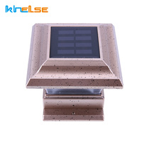 LED Solar Powered Light Waterproof Outdoor Energy Saving Street Yard Path Home Garden Pillar Fence Lamp