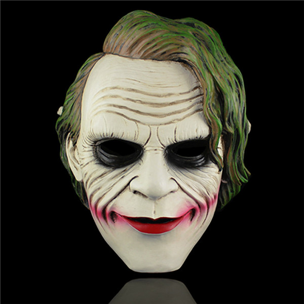 Free Shipping Joker Mask High Quality Vivid Detail Bat hero Fans Collection Villain Heath Halloween Party Dress up Cosplay Gifts devil may cry 4 dante cosplay wig halloween party cosplay wigs free shipping