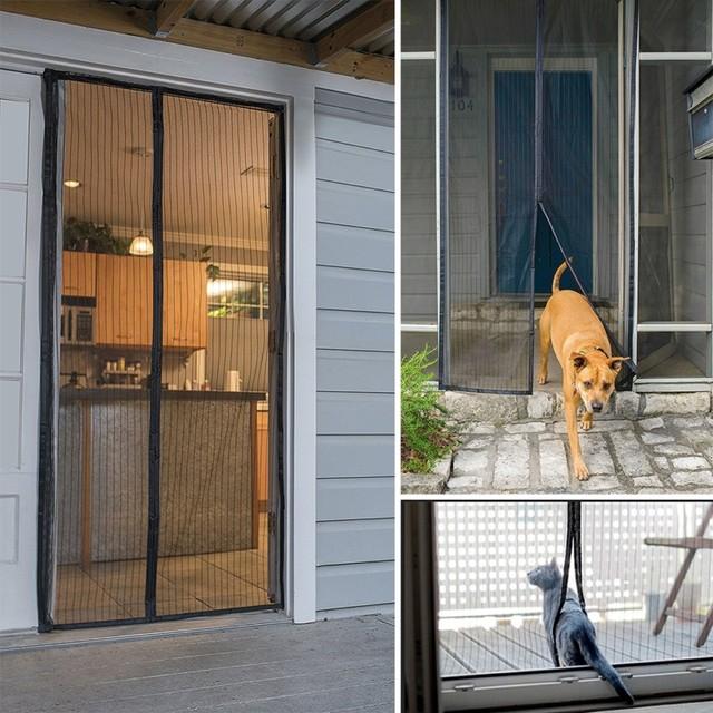 Etonnant 2.1*1m Hands Free Door Screen Curtain Magnetic Screen Door Mosquito Net Door  Anti Mosquito