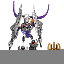Bevle BionicleMask of Light XSZ 710-3 Children's Skull Basher Bionicle Building Block Toys Compatible with Lepin 70793