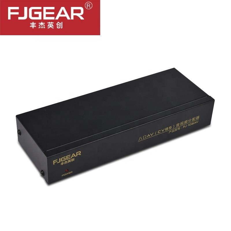 AV Splitter Switcher Composite RCA AV Splitter 1X8 CVBS Video Audio RCA Distributor Splitter