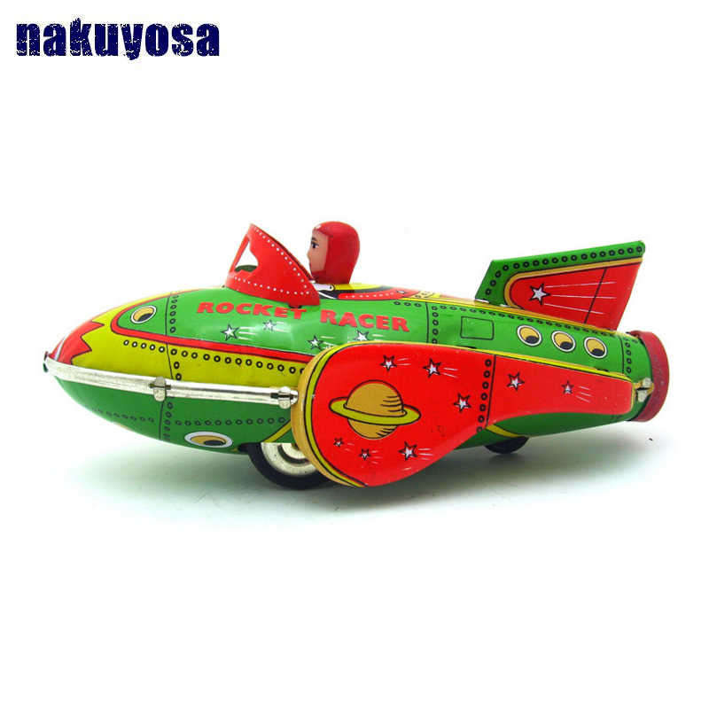 Clockwork Rocket Motor Car Clic Tin Toy Collection Nostalgic Toys Cars Model Racing Boy S In Casts Vehicles From Hobbies On