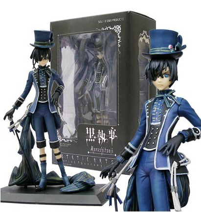 8 20cm Black Butler Kuroshitsuji Ciel Phantomhive Action Figures PVC Brinquedos Collection Figures Toys for Gift anime kuroshitsuji black butler ciel phantomhive short straight gray and blue mixed synthetic hair ponytails cosplay party wig