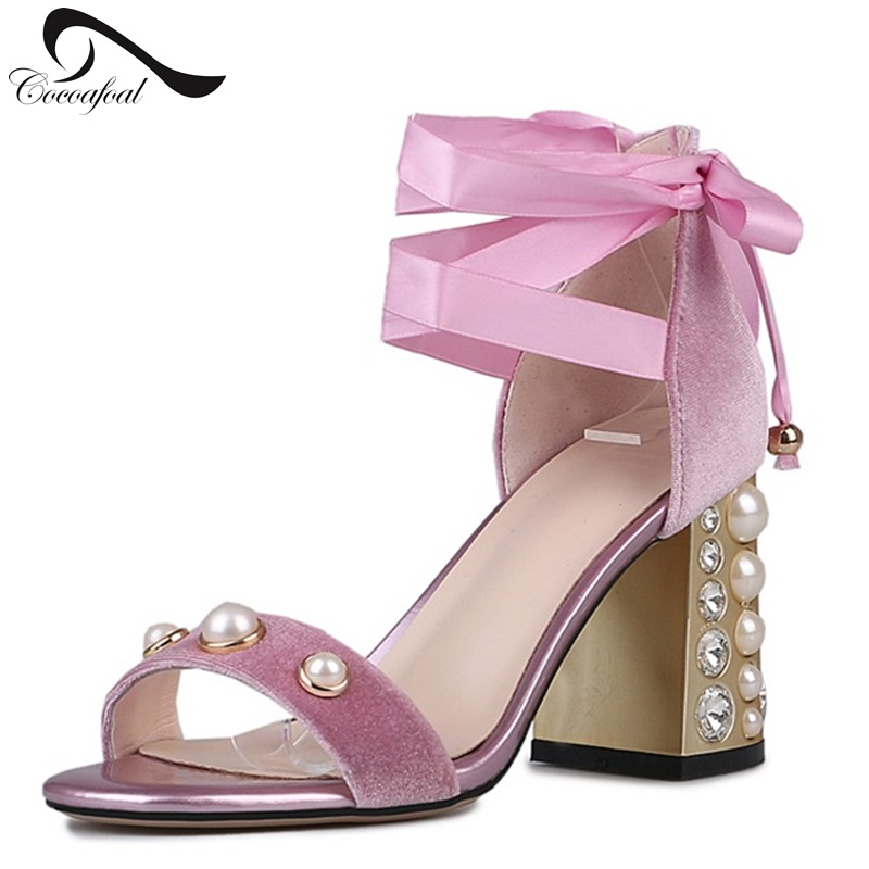 ФОТО Open toe High Heels Sandals Ankle Strap Women's Shoes High Quality Diamond Banquet wedding Shoes 2017 New Listing Women Sandals