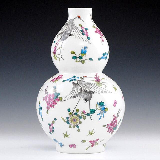 Ceramic Enamel Luminous Porcelain Art Gourd Vase Decoration Home
