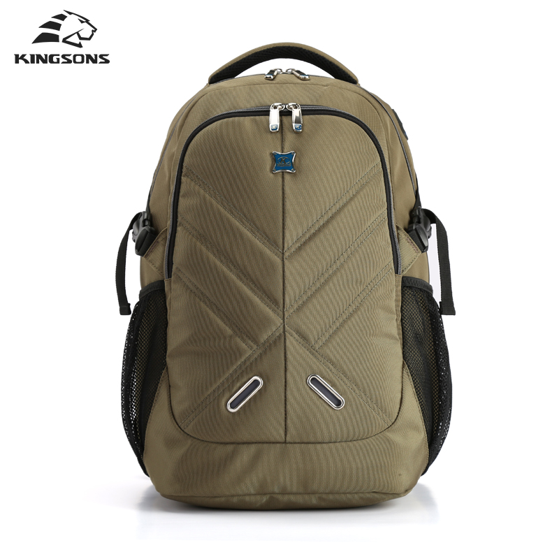Kingsons Shockproof Laptop Backpacks Male Bag Large Capacity Notebook Bagpack School Bag Teenager Boy Mochila Militar