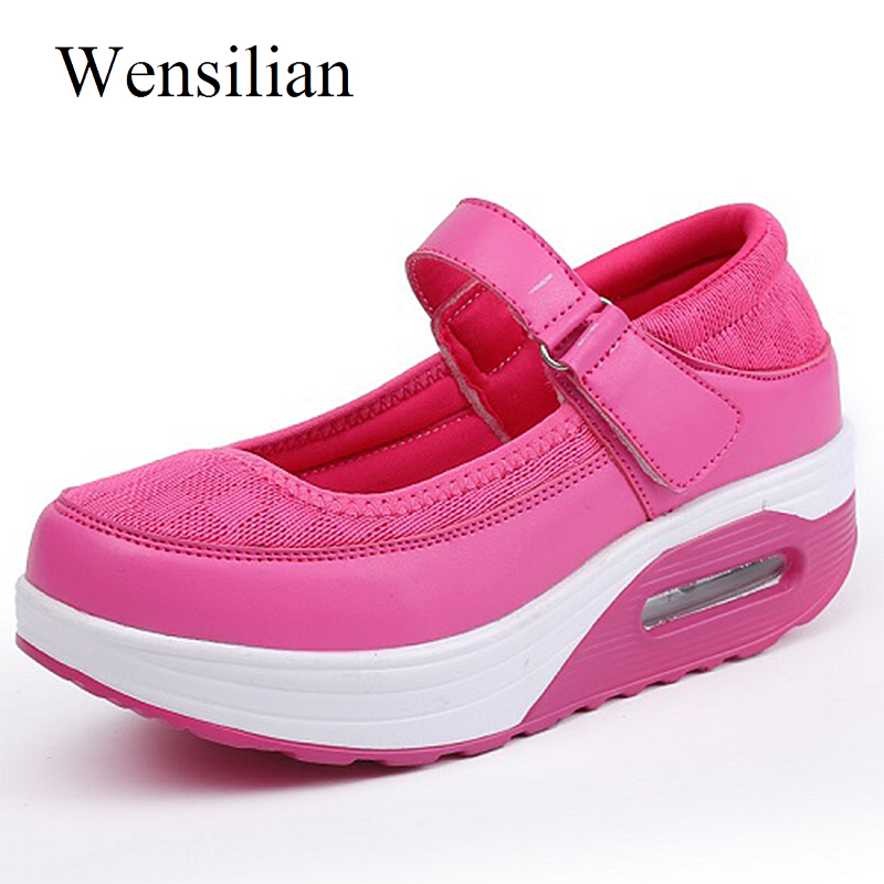 Fashion Summer Sneakers Women Platform Shoes Wedges Shoes Mesh Lace Up Trainers Women Tenis Feminino Casual Zapatos Mujer