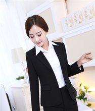 Neue 2015 Herbst Winter Weibliche Uniform Styles Blazer Jacken Professional Business  Frauen Blaser Outwear Mantel Plus 60dda97ab6