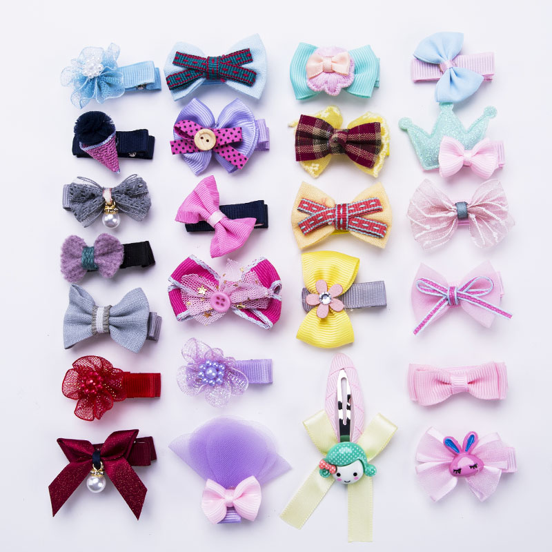 1Pc New Cute Kids Bow Flower Cartoon Hairpins Baby Girls Barrettes Children Hairgrips Headwear Headbands Hair Accessories 12pcs lot 4 inch diy grosgrain ribbon bow with clip kids hairpins children hair accessories 12 colors hairpins factory wholesale