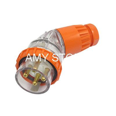 500VAC 32A IP66 3P+E 3 Phase Angled Industrial Electrical Plug Connector abb industrial connector four pole mobile industrial plug 63a 363p6