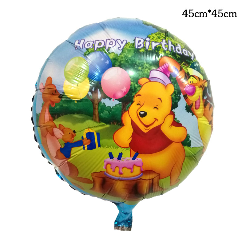 Honey 18inch Happy Birthday Round Foil Balloons Children Classic Toys Inflatable Helium Balloon Happy Birthday Ballons Party Supplies Festive & Party Supplies Event & Party