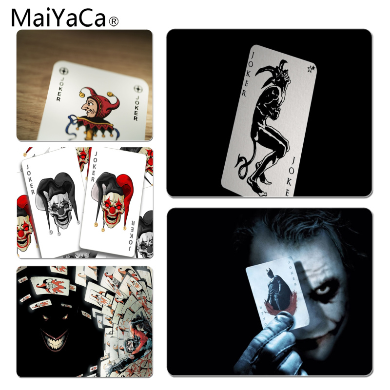 MaiYaCa New Designs Joker Card Customized laptop Gaming mouse pad Size for 180x220x2mm and 250x290x2mm Small Mousepad