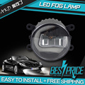 AKD Car Styling for FORD GRAND C MAX LED Fog Lamp Light guide FOG Light DRL Daytime Running Light Automobile Accessories