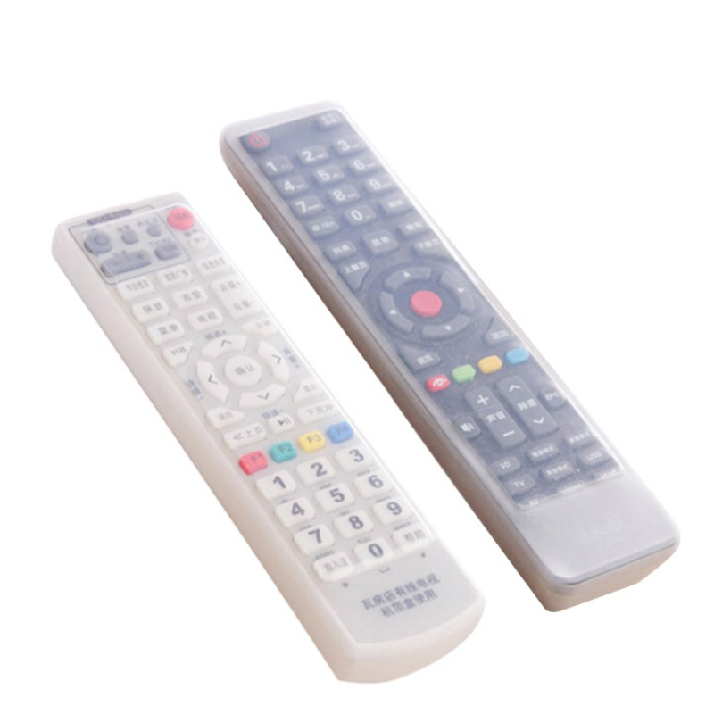 1 pc Remote Control Cover Silicone Transparent TV Remote Control Case Air Conditioning Dust Protect Storage Bag