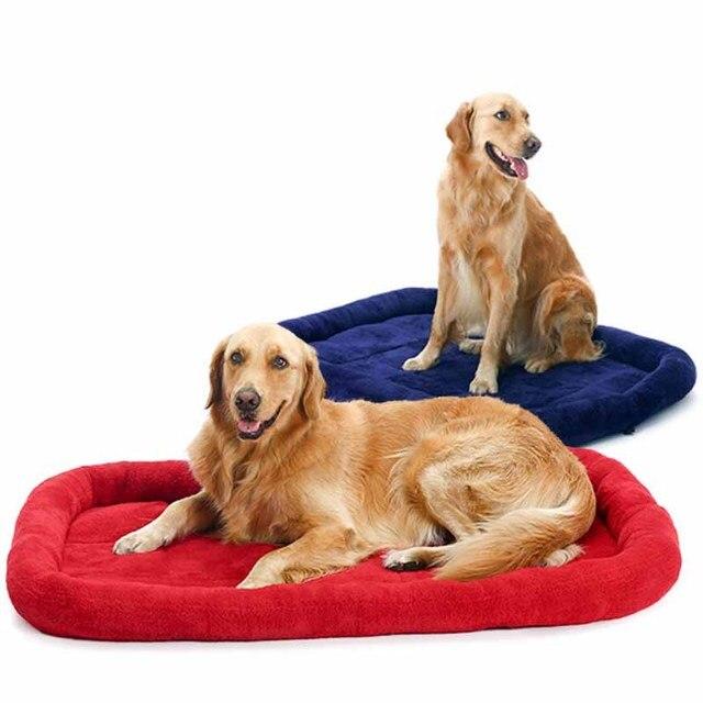 Enjoyable Us 11 9 20 Off Warm Winter Big Extra Large Indoor Dog Pet Mat House Pad Dog Sofa Bed Kennel Soft Fleece Golden Retriever Dog Cushion Bed Nest In Home Interior And Landscaping Palasignezvosmurscom