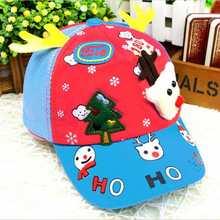 New Christmas pattern Kids Snapback Caps Summer Hat Caps For Children Baseball Caps For Boys Girls Sun Hip Hop Hat