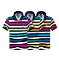 2017 famosa marca de ropa tace & shark shark polo shirt homme casual rayas de manga corta recta polos camisas hombres