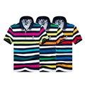 2017 roupas de marca famosa tace & shark polo camisa homme casual manga curta listras retas shark polos camisas homens