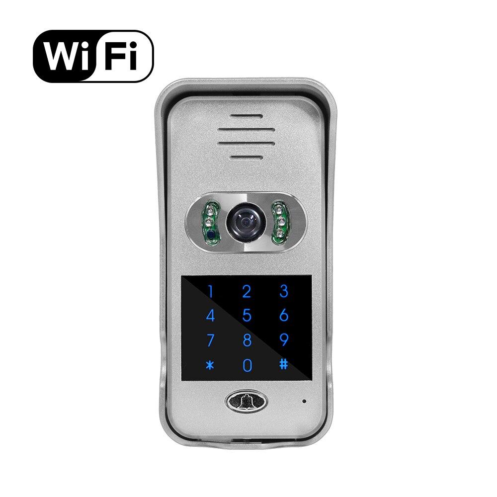 Купить с кэшбэком IR Night Vision Smart Phone Remote Unlock Network Door Video Camera Intercom Wifi Video Door Phone with Keypad