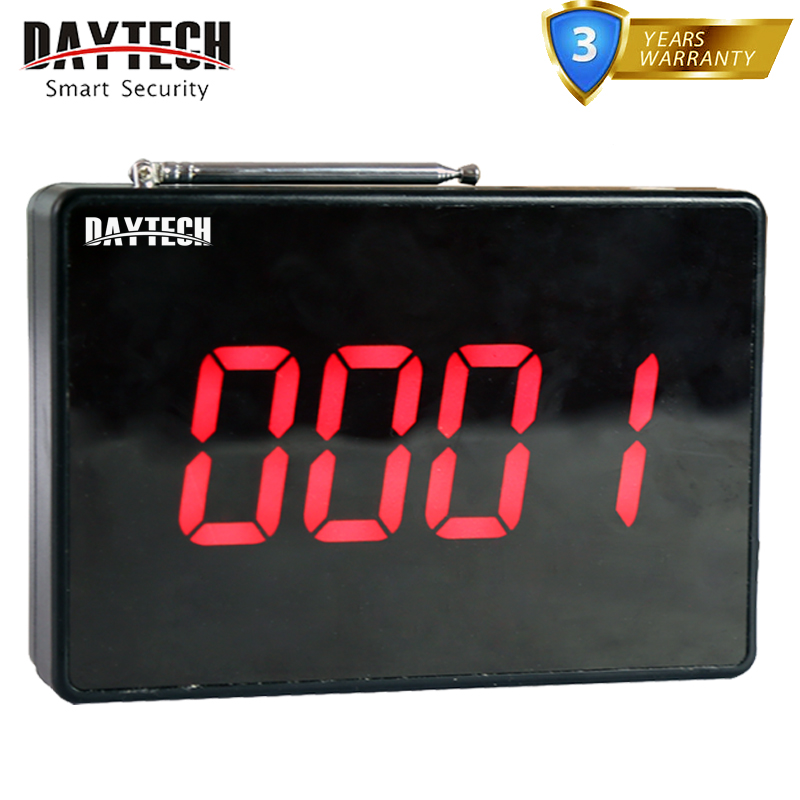 DAYTECH Wireless Waiter Calling Pager System Restaurant Service Calling Queue System Panel Display