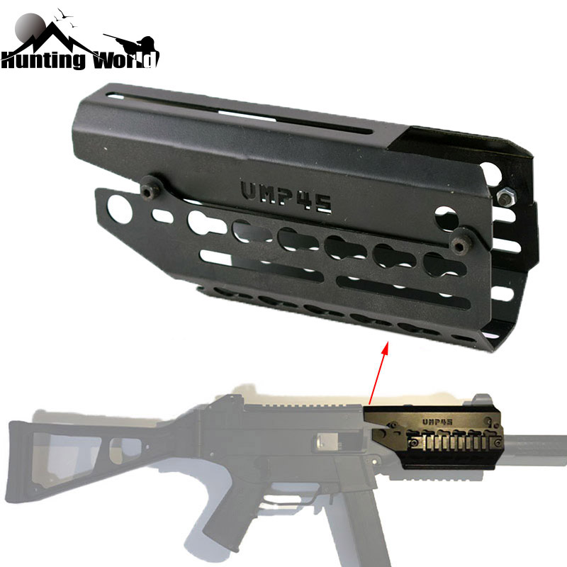 Tactical Two piece Drop In Free Float Keymod Handguard Scope Sight Mount for Airsoft H&K UMP 45 Hunting Caza Rifle Acessories-in Scope Mounts & Accessories from Sports & Entertainment    1