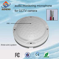 SIZHENG COTT-QD25 Ceiling security CCTV audio microphone low noise sound monitor pickups -40dB for prison