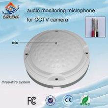 SIZHENG COTT-QD25 Ceiling security CCTV audio microphone low noise sound monitor pickups -40dB for prison broadband agc bandwidth maximum 150m vca810 40db to 40db automatic control manual program controlled