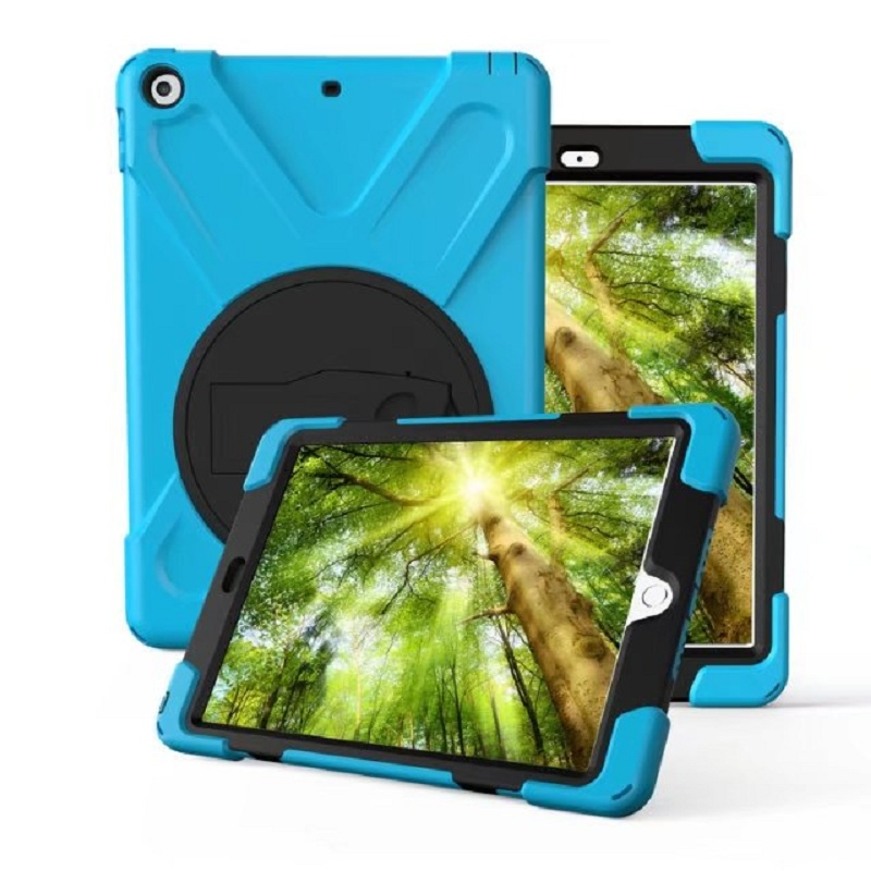 Case For Apple New Pad 9.7 2017 Cover Heavy Duty Shockproof Hybrid Hard PC Soft Silicone Protective Cover for Apple New Pad 2017