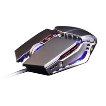 Wired 3200DPI USB Ergonomic Optical Gamer Gaming Mouse Mice For PC Laptop Computer 4 Colors LED Backlit Metal Plate Game Mouse