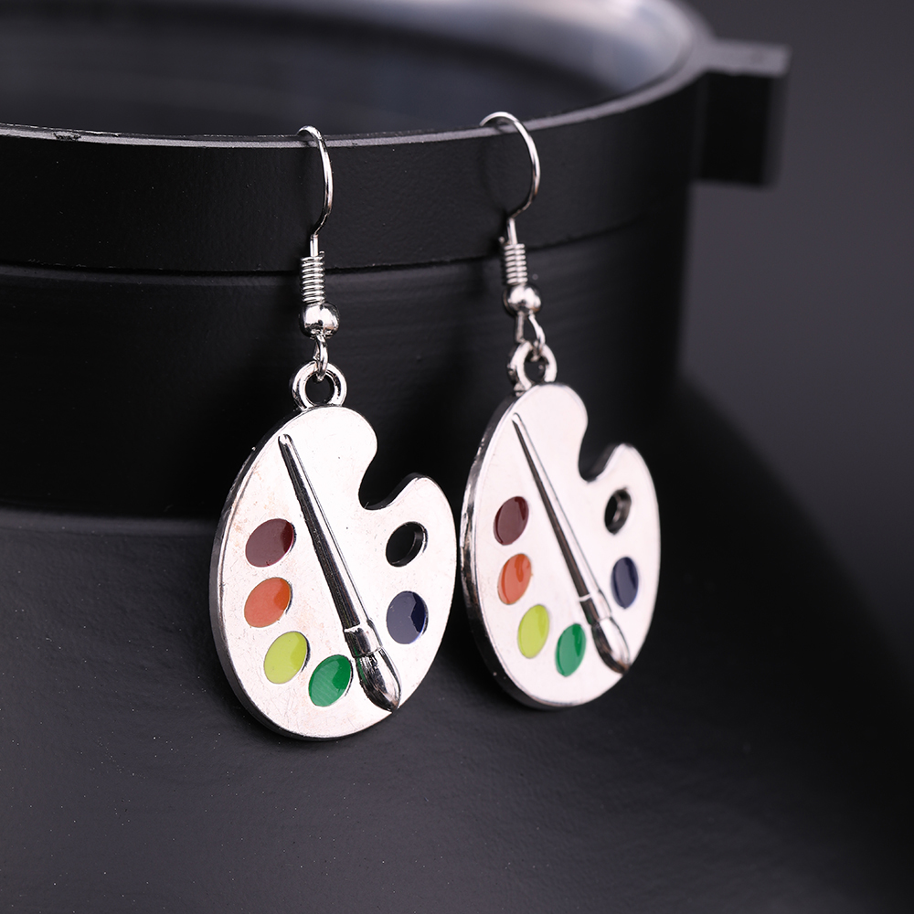 Carton Painting Drop Dangle Earrings Fashion Design Women Girls Artist S Palette Paint Jewelry Gifts For Her Aliexpress