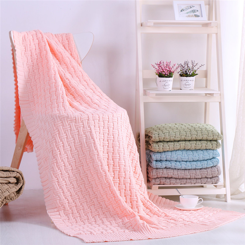 5 Colors Optional Pink Red Cashmere Cotton Warm Blankets Travel Flannel Sofa Fleece Weaving Blankets For Bed Warm 120x180cm Size
