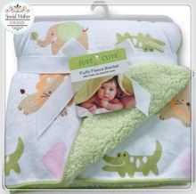 High quality plush baby blanket newborn swaddle wrap Super Soft baby nap receiving blanket animal manta