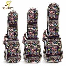 "21″ 23″ 26"" Ukulele Instrument Bags Ukelele Bag With Double Shoulder Strap Bag Canvas Guitar Bags Guitar Parts & Accessories"