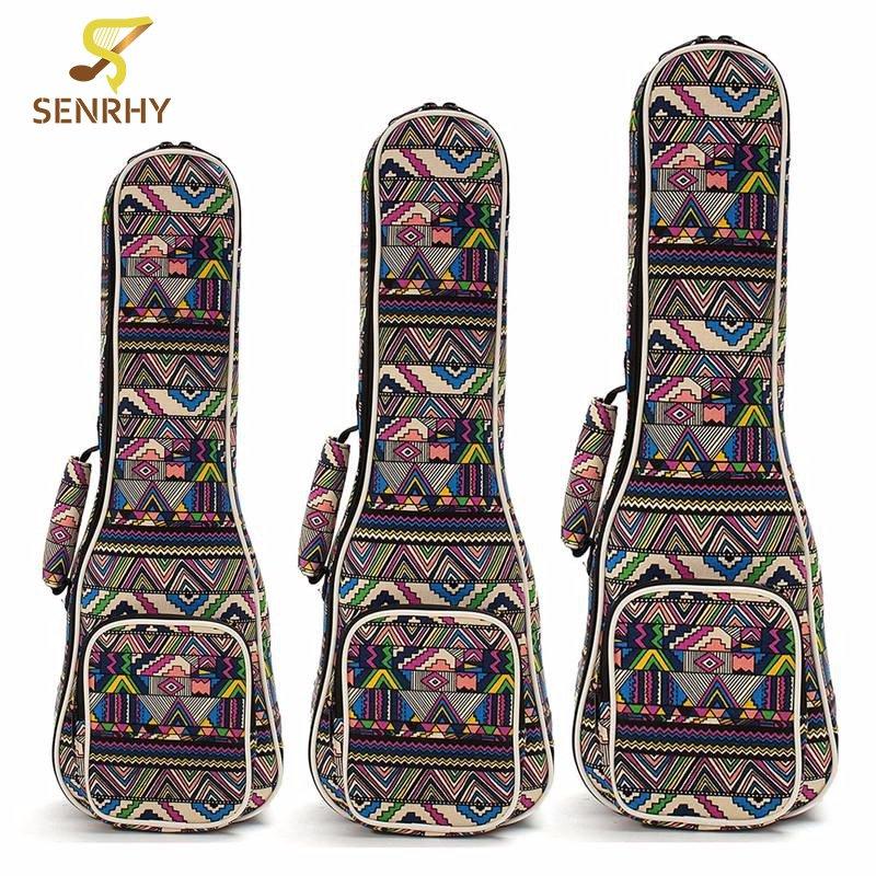 21 23 26 Ukulele Instrument Bags Ukelele Bag With Double Shoulder Strap Bag Canvas Guitar Bags Guitar Parts & Accessories