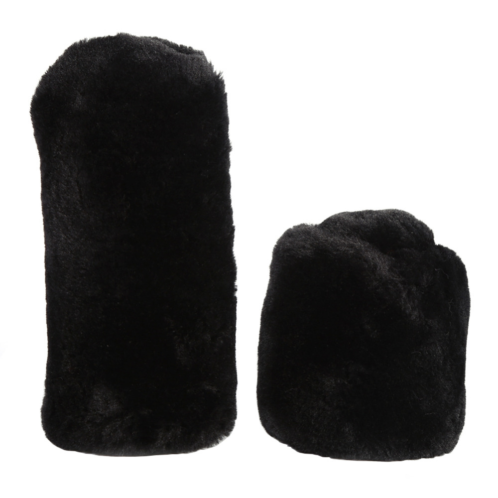 Synthetic Wool Plush Gear Shift Knob Cover Handbrake Gear Suit Winter Warm Set for Universal Car Automobiles Accessories in Gear Shift Collars from Automobiles Motorcycles